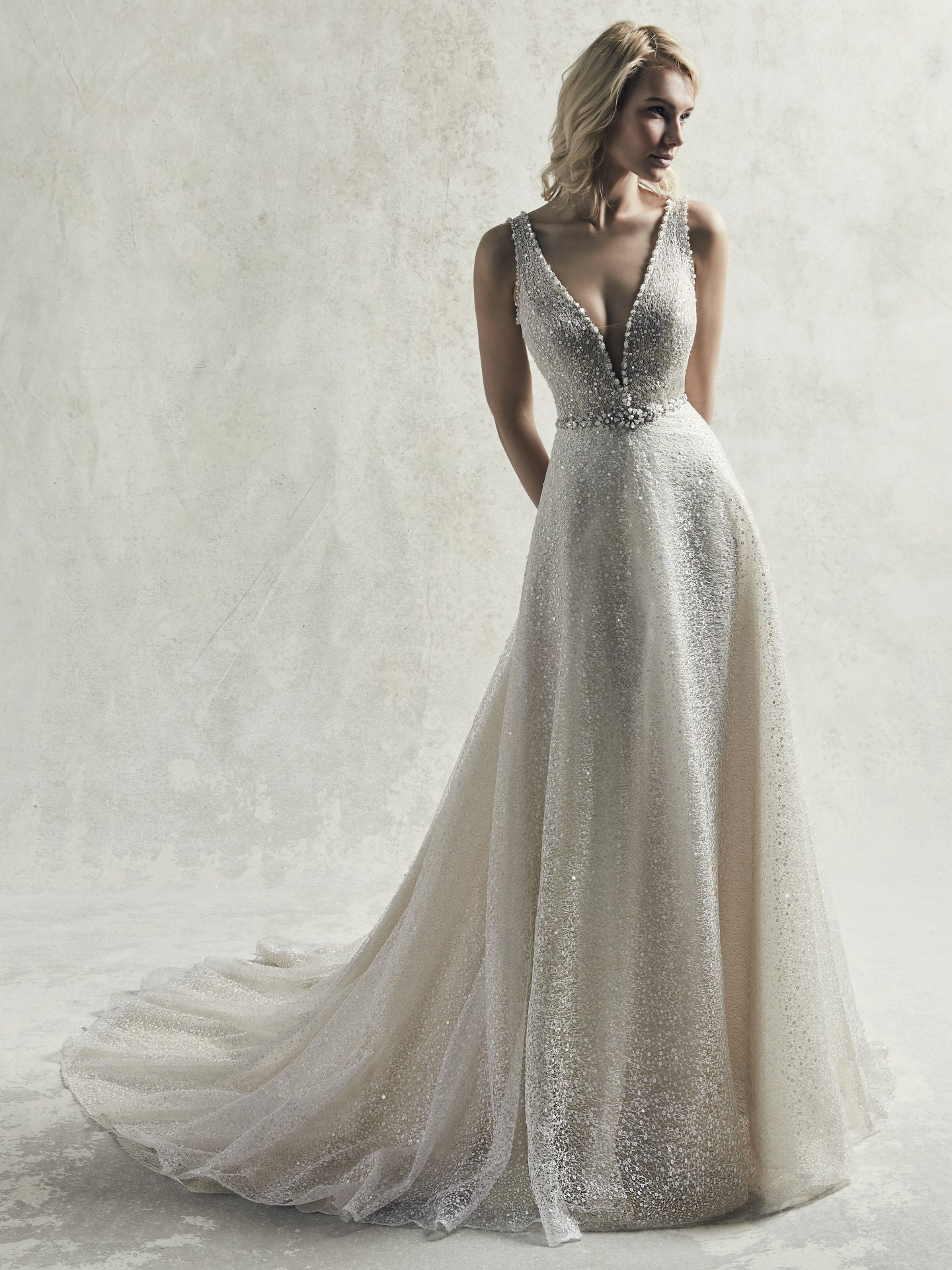 Maggie Sottero/ S.M: JARRET, Light Gold: 36-38