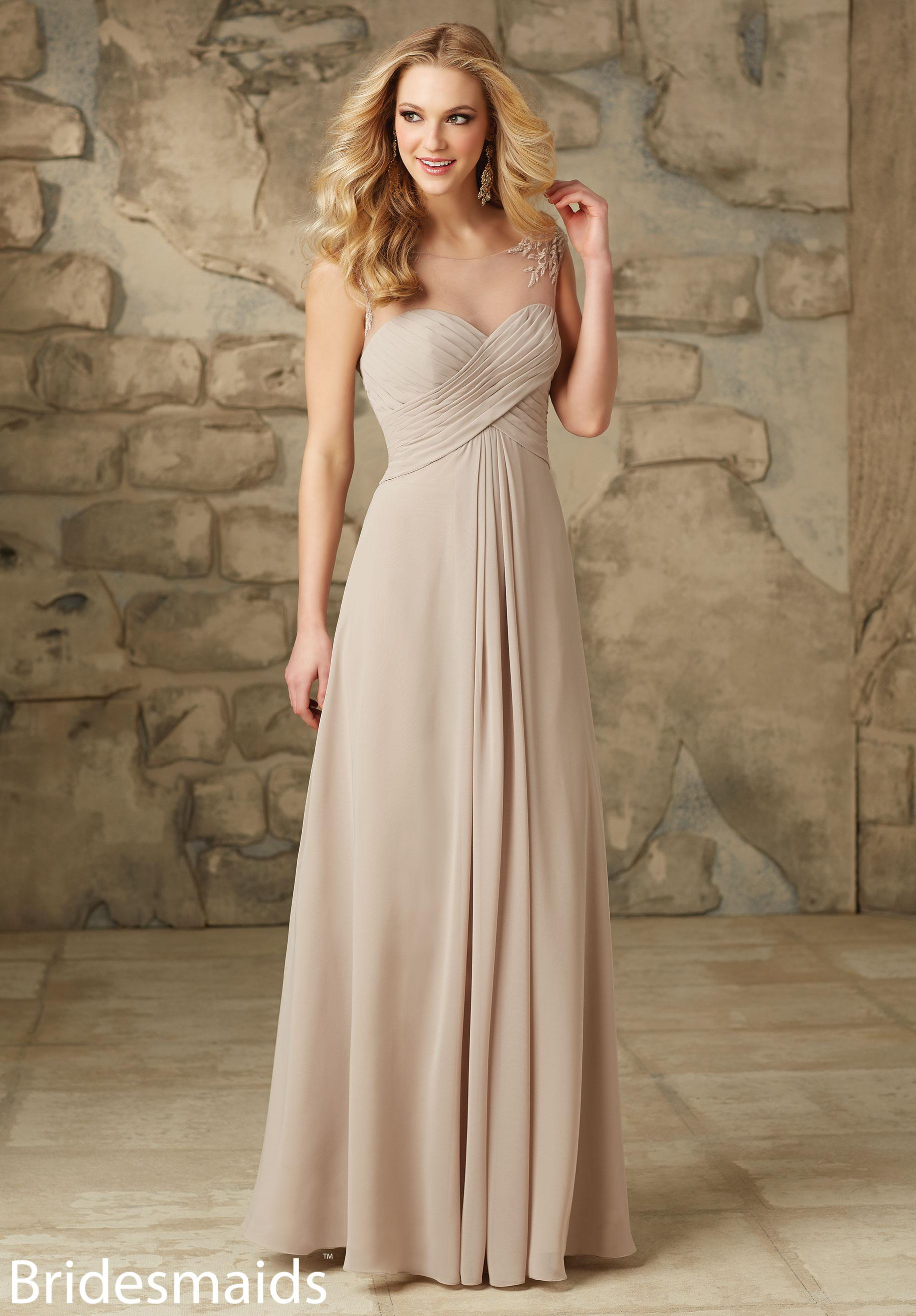 - Mori Lee 106, Latte, Blush