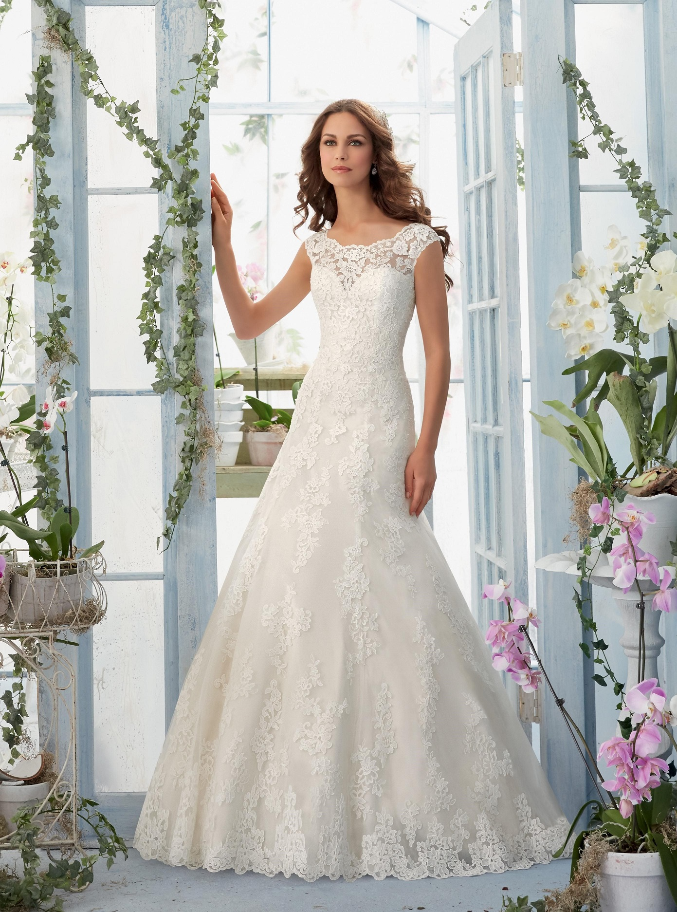 Mori Lee - 5410, White-58', Size:40