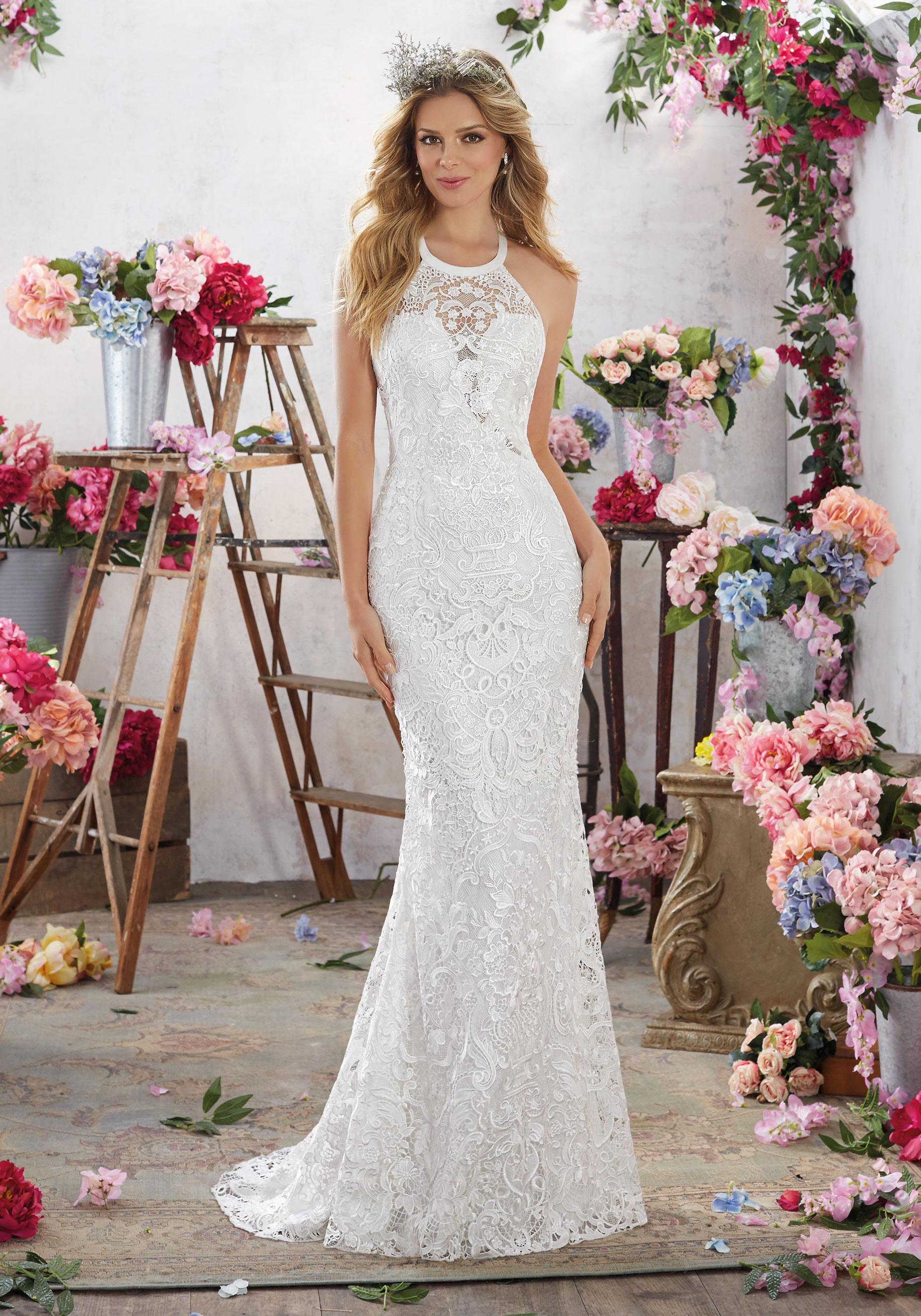 - Mori Lee - Maybelle/6851, White: 36/38